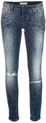 Balmain Pierre leopard print skinny jean