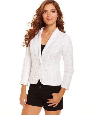 Kensie Jacket, Long-Sleeve Lace Blazer