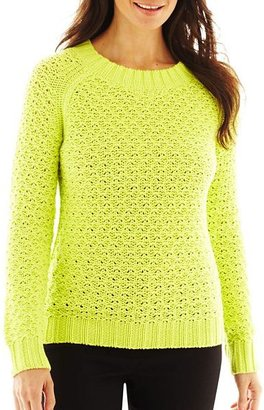 JCPenney Worthington Chunky Crewneck Sweater