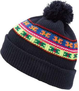 c4932bda1c9 Penfield Navy Himal Neon Pattern Beanie Hat