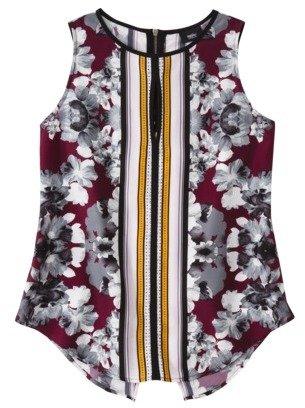 Mossimo Women's Sleeveless Keyhole Blouse -Assorted Prints