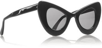 Illesteva + Zac Posen cat eye acetate sunglasses