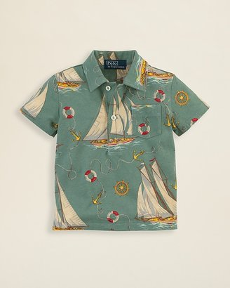Ralph Lauren Infant Boys' Sailboat Shirt - Sizes 9-24 Months