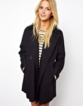 Asos Hooded Double Breasted Batwing Trench