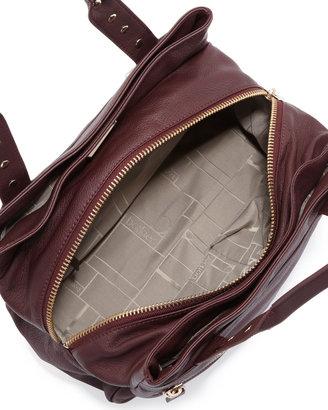 Botkier Trigger Medium Satchel Bag, Wine