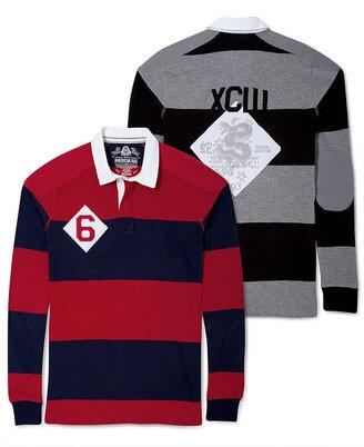 American Rag Shirt, Rugby Stripe Varsity Long Sleeve Polo