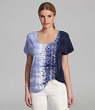 Calvin Klein Jeans Roadmap Tie-Dye Top