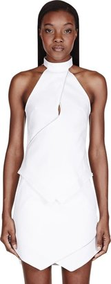 Dion Lee White Zip Halter Vertigo Blouse