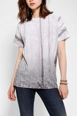 Urban Outfitters Deter Trees Allover Sublimated Boyfriend Tee