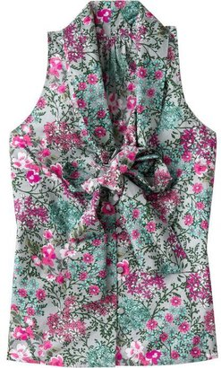 Old Navy Women's Floral Print Bow-Tie Tops