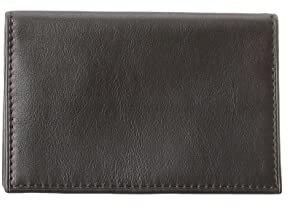 Bosca Nappa Vitello Calling Card Case (Black) Credit card Wallet
