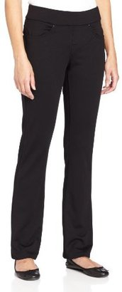 Lee Women's Petite Natural Fit Pull On Demi Pant Barely Bootcut Jeans