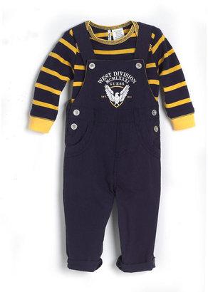 GUESS Newborn Boys 0-9 Months Cotton Two-Piece T-Shirt & Overalls Set