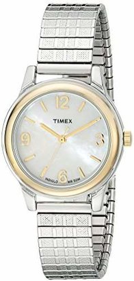 Timex Women's T2N842 Elevated Classics Two-Tone Stainless Steel Watch with Expansion Band $59.95 thestylecure.com