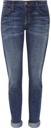 Current/Elliott The Roller diamanté-studded boyfriend-fit jeans