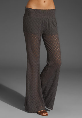 Free People Scalloped Lace Flare Pant