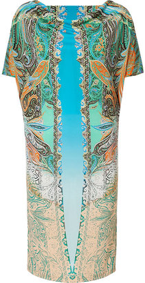 Etro Turquoise-Multi Pasley Print Jersey Dress