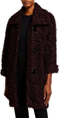 Caroline Rose Teddy Faux-Fur Topper Jacket