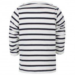 Petit Bateau White and navy mariniere sweater