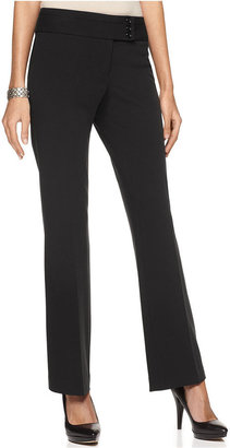 Alfani Straight-Leg Curvy-Fit Trousers