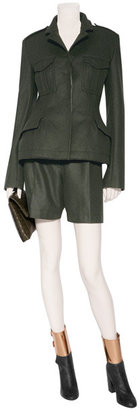 McQ by Alexander McQueen Military Green Wool Army Jacket