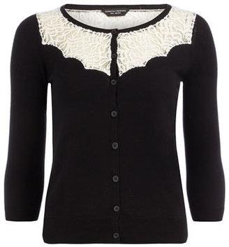 Dorothy Perkins Black lace yoke jumper