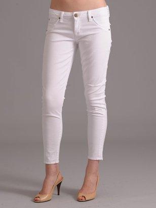 Hudson Cropped Skinny Jean in White