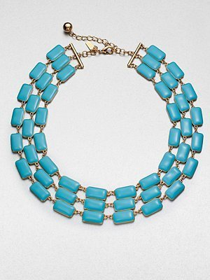 Kate Spade Multi-Row Linked Necklace