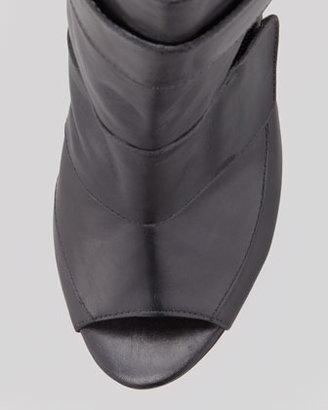 Derek Lam 10 Crosby Darla Peep-Toe Bootie, Black