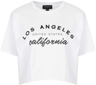 Topshop Los Angeles Crop Tee