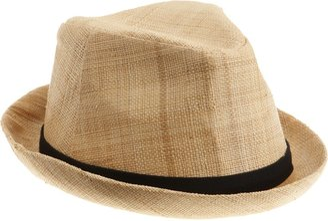 San Diego Hat Company Women's Natural Raffia Fedora