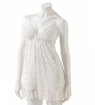 Apt. 9 beaded stretch lace bridal babydoll with matching panty