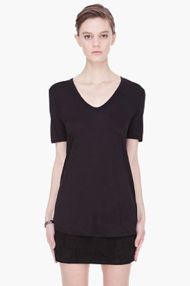 Alexander Wang black Classic T with pocket