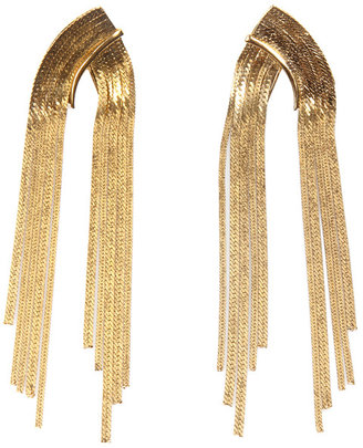 Citrine by the Stones Evening Chain Earrings in Gold -