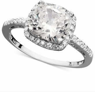 Giani Bernini Sterling Silver Ring, Cubic Zirconia Cushion Cut Pave Ring (3-3/4 ct. t.w.) $90 thestylecure.com