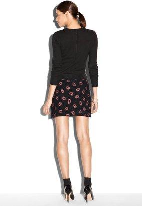 Milly Side Zip Mini Skirt