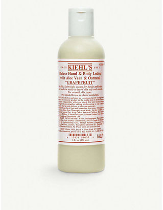 Kiehl's Kiehls Soft Grapefruit Deluxe Hand and Body Lotion With Aloe Vera Oatmeal 250ml