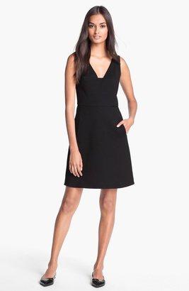 Rachel Roy Stretch Cotton A-Line Dress