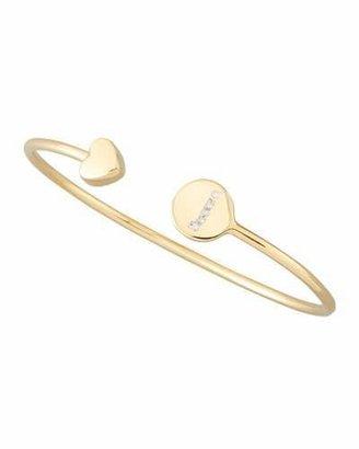 Sarah Chloe Gold & Pave Diamond Initial Bracelet