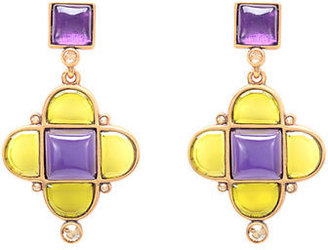 Oscar de la Renta Drop Mosaico Earrings