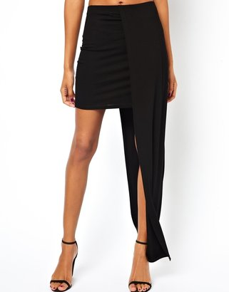 Asos Maxi Skirt with Stepped Hem
