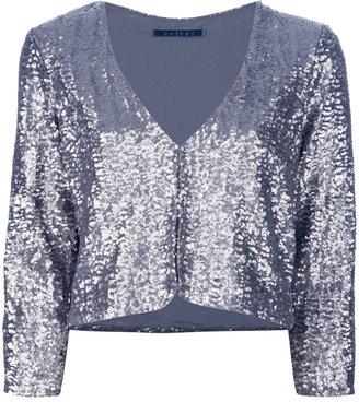 Velvet 'Yolie' sequin embellished jacket