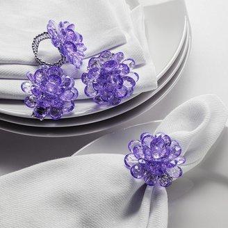 Twos Company Two's Company Zinnia Beaded Napkin Rings - Set of 4