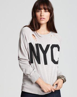 Wildfox Couture Sweatshirt - NYC Grey Destroyed