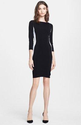 Women's Autumn Cashmere Colorblock Body-Con Dress $295 thestylecure.com