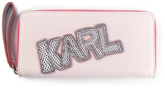 Karl Lagerfeld embroidered purse
