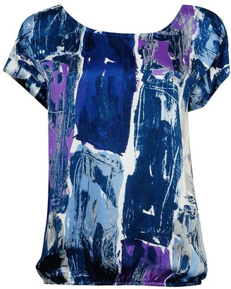 Forever 21 Abstract Print Satin Top