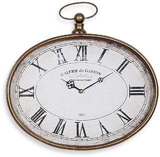 Bed Bath & Beyond Pocket Watch Horizontal Wall Clock