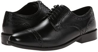 Nunn Bush Norcross Cap Toe Dress Casual Oxford (Black) Men's Lace Up Cap Toe Shoes