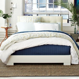 west elm Chunky Wood Bed Frame - White